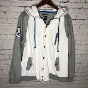 Hot Topic Rude Mens Varisity Style Hoodie Size M